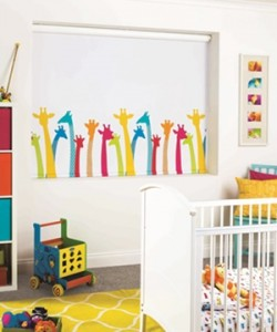 Roller blind by Louvolite for kids bedroom