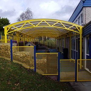 School shelters for playgrounds