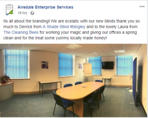 A review from Airedale Enterprises, a customer